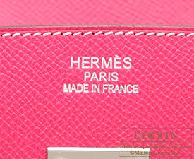 Hermes Birkin bag 35 Rose lipstick Epsom leather Silver hardware