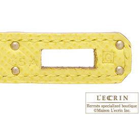 Hermes Birkin bag 25 Soufre Epsom leather Silver hardware
