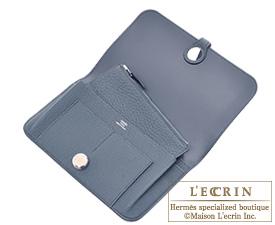 Hermes Dogon GM Blue orage Togo leather Silver hardware