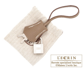 Hermes Birkin bag 35 Gold/Etoupe grey Togo leather Mat Silver  hardware