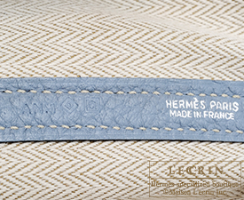 Hermes Garden Party bag PM Blue lin Country leather Silver hardware