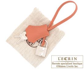 Hermes Birkin bag 35 Rose tea Clemence leather Silver hardware