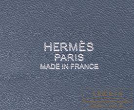 Hermes Bolide bag 31 Blue orage Clemence leather Silver hardware