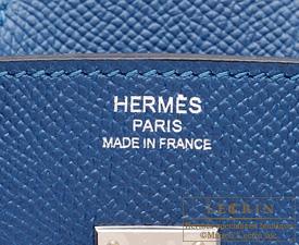 a1420ec02fe0 Hermes Birkin bag 25 Blue thalassa Epsom leather Silver hardware ...