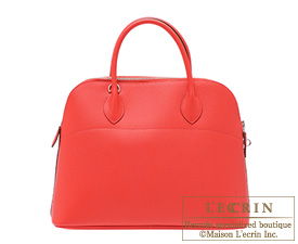 Hermes Bolide bag 35 Rose jaipur Epsom leather Silver hardware