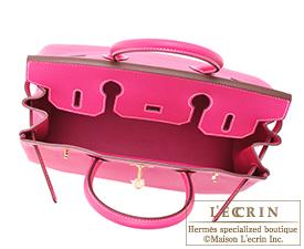Hermes Birkin bag 30 Rose tyrien Epsom leather Gold hardware