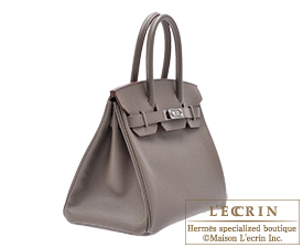 Hermes Birkin bag 30 Etain Epsom leather Silver hardware