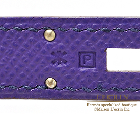 Hermes Kelly bag 32 Crocus Epsom leather Silver hardware