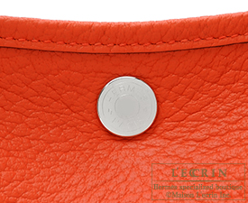 Hermes Garden Party bag TPM Capucine Country leather Silver hardware