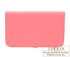 Hermes Dogon GM Rose lipstick Togo leather Gold hardware