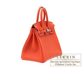 ... Hermes Birkin bag 25 Capucine Togo leather Silver hardware 1fd15654c0b4e
