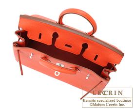 Hermes Birkin bag 25 Capucine Togo leather Silver hardware