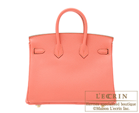 Hermes Birkin bag 25 Flamingo Epsom leather Gold hardware