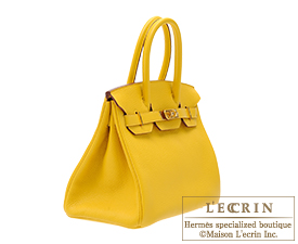 Hermes Birkin bag 30 Soleil Clemence leather Gold hardware