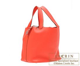 Hermes Picotin Lock bag GM Rose jaipur/Indian pink Clemence leather Silver hardware