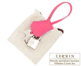 Hermes Birkin bag 30 Rose tyrien Chevre myzore goatskin Silver hardware