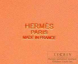 Hermes Bolide bag 35 Crevette Clemence leather Gold hardware