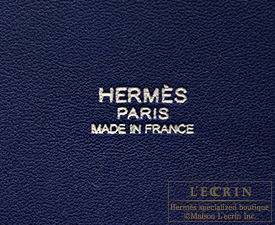 Hermes Bolide bag 35 Blue saphir/sapphire blue Clemence leather Silver hardware