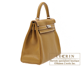 Hermes Kelly Amazon bag 32 Retourne Kraft Clemence leather Silver hardware
