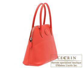 Hermes Bolide bag 27 Rose jaipur Epsom leather Silver hardware