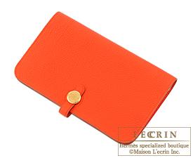Hermes Dogon GM Capucine/Capucine orange Togo leather Gold hardware