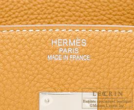 ad826523795 Hermes Birkin bag 35 Natural sable Togo leather Silver hardware ...