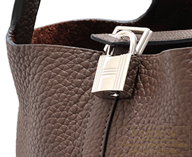 Hermes Birkin bag 30 Cacao/Cacao brown Clemence leather Silver hardware