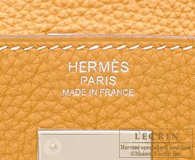 Hermes Kelly bag 28 Natural sable Togo leather Silver hardware