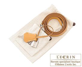 Hermes Kelly bag 32 Natural sable Togo leather Silver hardware