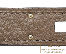 Hermes Birkin bag 30 Taupe grey Togo leather Silver hardware