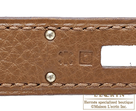 Hermes Kelly bag 32 Retourne Alezan Clemence leather Silver hardware