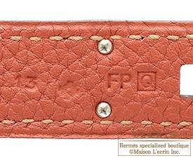 Hermes Birkin bag 35 Rosy Togo leather Silver hardware