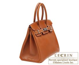 4b826c595b97 ... Hermes Birkin bag 30 Fauve Barenia leather Silver hardware