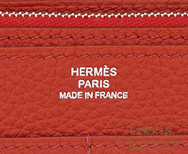Hermes Dogon GM Rouge garance Togo leather Silver hardware