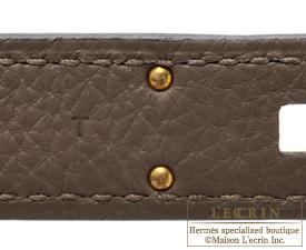 Hermes Birkin bag 30 Taupe grey Togo leather Gold hardware