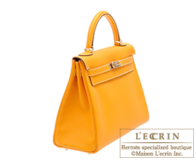 Hermes Candy Kelly bag 32 Jaune d'or Epsom leather Champagne Gold hardware