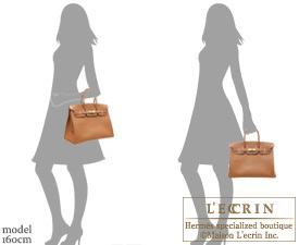 Hermes Birkin bag 35 Cognac Epsom leather Gold hardware