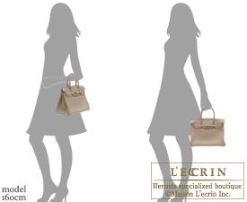 Hermes Birkin bag 30 Gris tourterelle Clemence leather Silver hardware