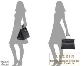 893974e8a8 Hermes Birkin bag 35 Black Epsom leather Silver hardware