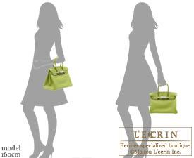Hermes Birkin bag 30 Anis green Togo leather Silver hardware