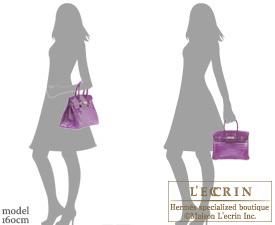 cb92814663 Hermes Birkin bag 30 Violet Niloticus crocodile skin Silver hardware ...