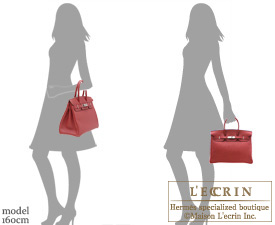 Hermes Birkin bag 35 Ruby/Dark red Togo leather Silver hardware
