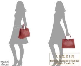 Hermes Garden Party bag TPM Rouge H Negonda leather Silver hardware