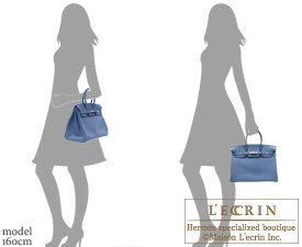 Hermes Birkin bag 35 Mykonos/Mykonos Blue Clemence leather Silver hardware
