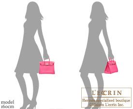 Hermes Birkin bag 25 Rose shocking Chevre myzore goatskin Silver hardware