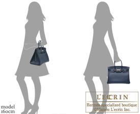 c184fd595c Hermes Birkin bag 35 Blue indigo Indigo blue Epsom leather Silver hardware