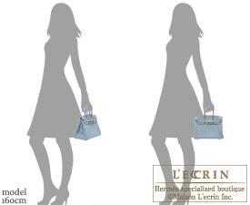 Hermes Birkin bag 25 Blue lin Togo leather Gold hardware