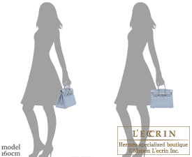 Hermes Birkin bag 25 Blue lin Togo leather Silver hardware