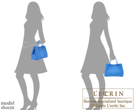Hermes Garden Party bag TPM Blue hydra Fjord leather Silver hardware