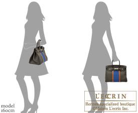 Hermes Birkin bag 35 Vert bronze/Blue thalassa/Fauve Fjord/Ottomane Silver hardware